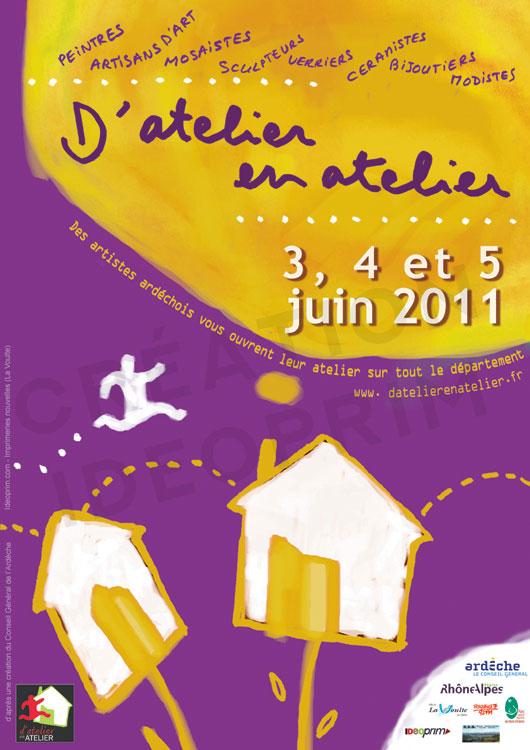 d'Atelier en Atelier - 2011- Affiche