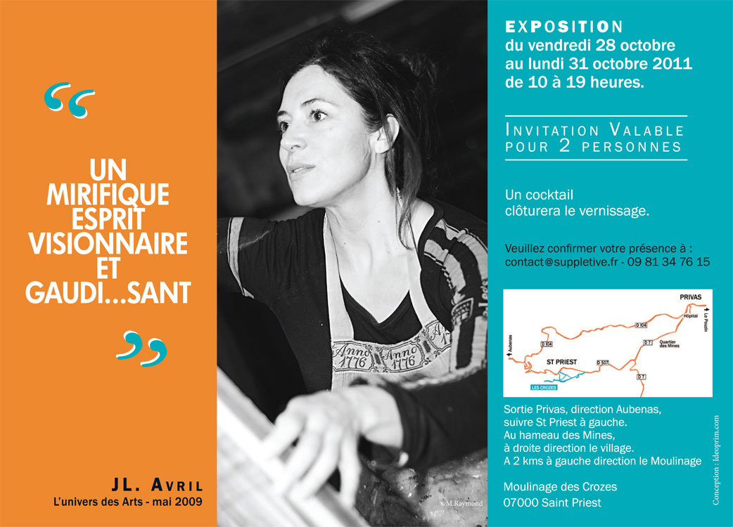 Carte d'invitation pour un vernissage d'expo