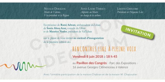 Fréquence Lire - Les Rencontres - Invitation