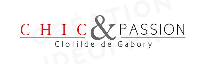 Chic et Passion logo dessiné par IDEOprim
